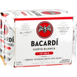 Photo of Bacardi Rum & Cola Cans