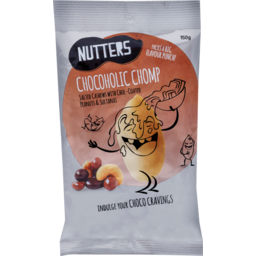 Photo of Nutters Chocoholic Chomp Salted Cashews With Choc-Coated Peauts & Sultanas 150g