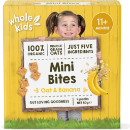 Photo of Whole Kids Bites Oat Banana 4pk