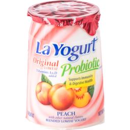 Photo of La Yogurt Probiotic Original Low Fat Yogurt Peach