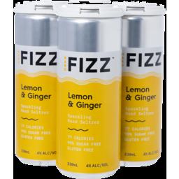 Photo of Hard Fizz Lemon & Ginger Seltzer Cans - 4 X 330ml