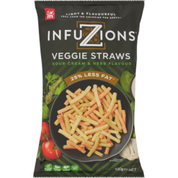 Photo of Infuzions Veggie Straws Sour Cream & Herb Flavoured 100g
