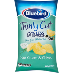 Photo of Bluebird Thin Cut Sour Cream & Chives 140g