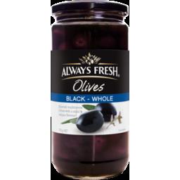 Photo of A/Frsh Olives Span Black 450g