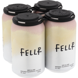 Photo of Fellr Brewed Alcoholic Seltzer Dry & Lime Can