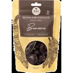 Photo of NAKED CHOCOLATE CO. Freezedried Banana Dark Chocolate