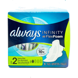 Photo of Always Infinity Regular Pads With Wings, 18 Count