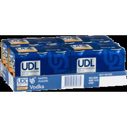 Photo of UDL Vodka Orange Can 4% 375ml 24 Pack