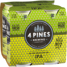 Photo of 4 Pines In Season Ipa 4*375ml