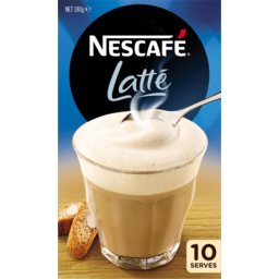 Photo of Nescafe Coffee Sachets Latte 10 Pack 180g