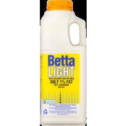 Photo of Betta Light Low Fat Milk 600ml