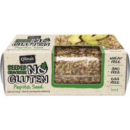 Photo of Olina's Bakehouse No Gluten Seeded Crackers 100g