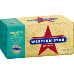 Photo of Western Star Unsalted Butter 250g