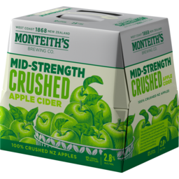 Photo of Monteiths Lightly Crush Cider 330ml Bottles 12 Pack