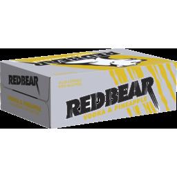 Photo of Red Bear Vodka & Pineapple 375ml 24 Pack
