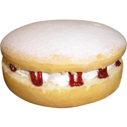Photo of Dusted Jam & Mock Cream Sponge Cake 7 Inch
