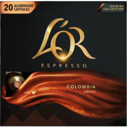 Photo of Lor Espresso Colombia Andes Coffee Capsules 20 Pack 104g