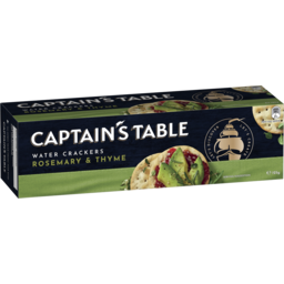 Photo of Captain's Table Water Crackers Rosemary & Thyme 125g