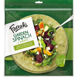 Photo of Farrah's Wraps Garden Spinach 6 Pack