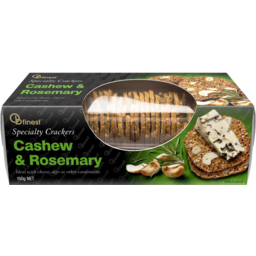Photo of OB Finest Crackers Cashew & Rosemary 150g
