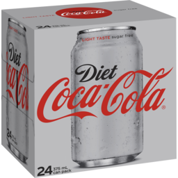 Photo of Coca-Cola Light/Diet Diet Coca-Cola Soft Drink Multipack Cans 24x375ml