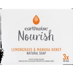 Photo of Earthwise Soap Bar Lemon Grass & Honey 3 Pack