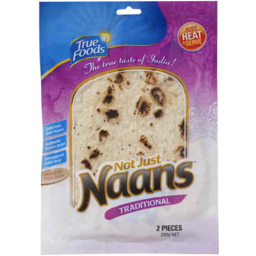 Photo of True Foods Traditional Naan Bread 2pk 250gm