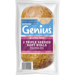 Photo of Genius Gluten Free Roll Triple Seed 2pk