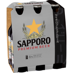Photo of Sapporo Premium Beer 6 x 355ml Bottles