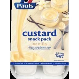 Photo of Pauls Custard Vanilla 6x150g