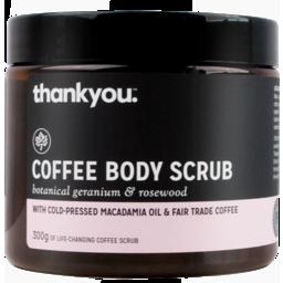 Photo of Thankyou Coffee Scrub Geranium & Rosewood 300gm