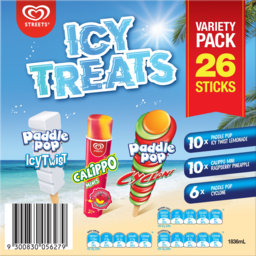 Photo of Streets Icy Treats Variety Pack 26 Pack 1.836ml