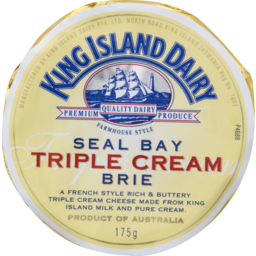 Photo of  King ISLAND Seal Bay TRIPLE CREAM BRIE 175G
