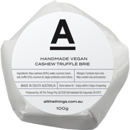 Photo of All The Things - Cashew Truffle Brie - 100g