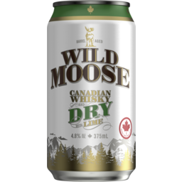 Photo of Wild Moose Whisky & Dry Can