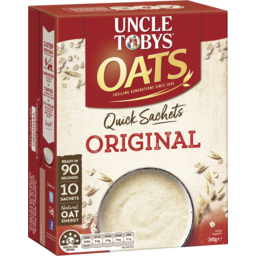 Photo of Uncle Tobys Oats Quick Sachets Original 340g