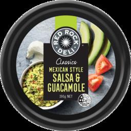 Photo of Red Rock Deli Classic Mexican Salsa & Guacamole Dip 190g