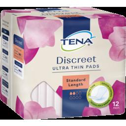 Photo of Tena Discreet Ultra Thin Pads Standard Length 12 Pack
