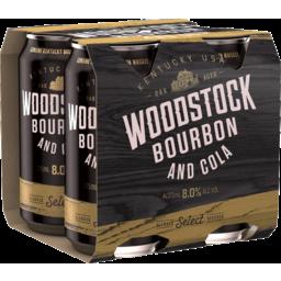 Photo of Woodstock Bourbon & Cola 8.0% 4 X 375ml Can