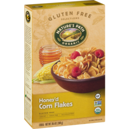 Photo of Nature's Path Organic Honey'd Corn Flakes Cereal Gluten Free