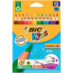 Photo of Bic Kids Triangular Wood Free Coloured Pencils 12pk