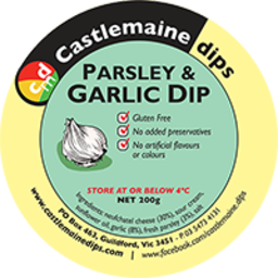 Photo of Castlemaine Dip Parsley & Garlic 200g