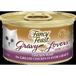 Photo of Fancy Feast Adult Gravy Lovers Chicken Feast In Grilled Chicken Flavour Gravy Wet Cat Food 85g