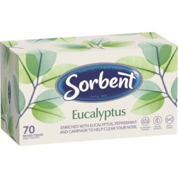 Photo of Sorbent Facial Tissue Eucalyptus 70pk
