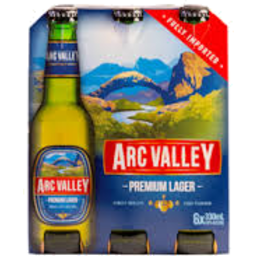 Photo of Arc Valley Premium Lager 6 x 330ml Pack