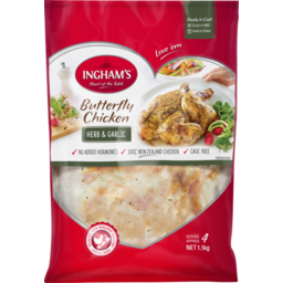 Photo of Ingham's Butterfly Chicken With Extra Flavour Herb & Garlic 1.1kg