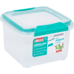Photo of Decor Match Ups Square Clips Container 1.4l