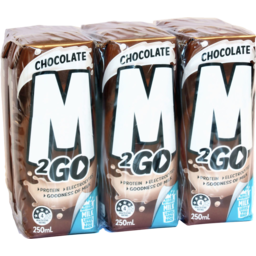 Photo of M2go Milk Choc Uht 6x250ml