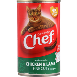Photo of Chef Cat Food Chicken & Lamb 700g