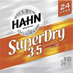 Photo of Hahn Super Dry 3.5% Cans